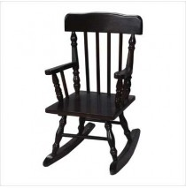 Child's Colonial Spindle Rocking Chair Espresso