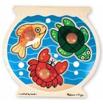 Wooden Fishbowl Jumbo Knob Puzzle Melissa & Doug