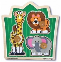 Jungle Friends Jumbo Knob Puzzle Melissa & Doug