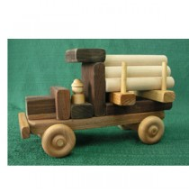 Handmade Wooden Toy Large Logger with Logs