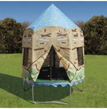 Bazoongi Kids Treehouse Trampoline Tent Cover