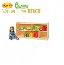 "Angeles Value Line Birch 24"" H Mobile Divided 2 Shelf Storage"