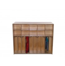 Deluxe Preschool Divided Lockers with Cubbies for 10, 72''w x 12''d x 48''h (Mainstream shown)