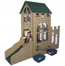 Strictly For Kids Castle Infant/Toddler Outdoor Step 'n Slide, Natural