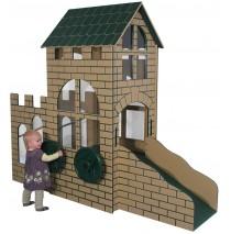 Strictly For Kids Castle Infant/Toddler Outdoor Step 'n Slide, Bright (Natural colors shown)