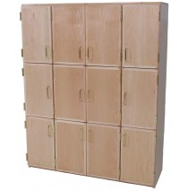 Deluxe Lockers with Doors for 9 (Lockers for 12 shown)