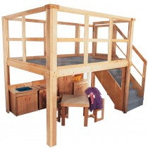 Strictly For Kids Deluxe Preschool Navigator 2000 loft, 134''w x 78''d x 94''h overall, 52''h deck (other furniture not included)