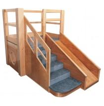 Strictly For Kids Deluxe Adventurer 5 toddler loft, 54''w x 86''d x 60''h, 28''h deck