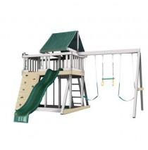 Kidwise Congo Monkey Playsystems  #1 Swing Set in White & Green