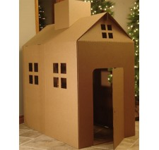 Cardboard Playhouse Corrugated Box Play House - Palmer's Playhouse Stands Almost 5 feet tall